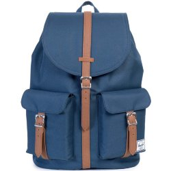 РЮКЗАК Herschel DAWSON A/S Navy/Tan Synthetic Leather