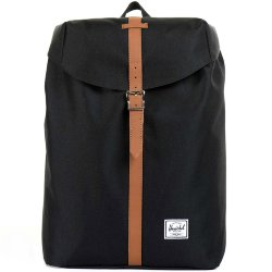 РЮКЗАК Herschel POST MID-VOLUME SS17 Black/Tan Synthetic Leather